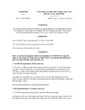 Nghị định số 121/2011/NĐ-CP