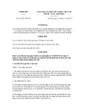 Nghị định số 122/2011/NĐ-CP