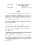 Thông tư số 182/2011/TT-BTC
