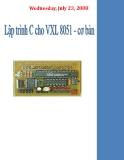 Lập trình C cho vi xử lý 8051