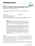 """Báo cáo hóa học: """"  Inhibition of cytokine gene expression and induction of chemokine genes in non-lymphatic cells infected with SARS coronavirus"""""""
