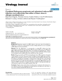 """Báo cáo hóa học: """" Combined fluticasone propionate and salmeterol reduces RSV infection more effectively than either of them alone in allergen-sensitized mice"""""""