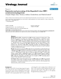 """Báo cáo hóa học: """" Expression and processing of the Hepatitis E virus ORF1 nonstructural polyprotein"""""""