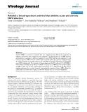 "Báo cáo hóa học: ""  Arbidol: a broad-spectrum antiviral that inhibits acute and chronic HCV infection"""