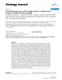 """Báo cáo hóa học: """"  Circulating viral core and E1 antigen levels as supplemental markers for HCV Chronic hepatitis"""""""