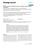 "Báo cáo hóa học: ""  Genetic analysis of Thailand hantavirus in Bandicota indica trapped in Thailand"""