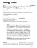 "Báo cáo hóa học: ""  S1 gene sequence analysis of a nephropathogenic strain of avian infectious bronchitis virus in Egypt"""