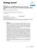 """Báo cáo hóa học: """"  Cloning of the canine RNA polymerase I promoter and establishment of reverse genetics for influenza A and B in MDCK cells"""""""