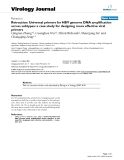 """Báo cáo hóa học: """"  Retraction: Universal primers for HBV genome DNA amplification across subtypes: a case study for designing more effective viral primers"""""""