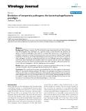 "Báo cáo hóa học: "" Evolution of temperate pathogens: the bacteriophage/bacteria paradigm"""