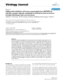 """Báo cáo hóa học: """"  Differential inhibition of human cytomegalovirus (HCMV) by toll-like receptor ligands mediated by interferon-beta in human foreskin fibroblasts and cervical tissue"""""""