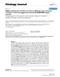 "Báo cáo hóa học: ""  Higher polymerase activity of a human influenza virus enhances activation of the hemagglutinin-induced Raf/MEK/ERK signal cascade"""