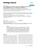 """Báo cáo hóa học: """"  Cyclooxygenase activity is important for efficient replication of mouse hepatitis virus at an early stage of infection"""""""