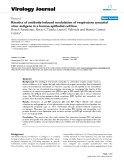 """Báo cáo hóa học: """"  Kinetics of antibody-induced modulation of respiratory syncytial virus antigens in a human epithelial cell line"""""""
