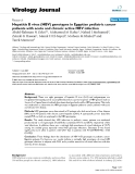 """Báo cáo hóa học: """"  Hepatitis B virus (HBV) genotypes in Egyptian pediatric cancer patients with acute and chronic active HBV infection"""""""