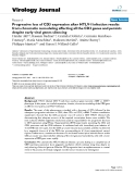 """Báo cáo hóa học: """"  Progressive loss of CD3 expression after HTLV-I infection results from chromatin remodeling affecting all the CD3 genes and persists despite early viral genes silencing"""""""