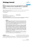"Báo cáo hóa học: ""  Elective caesarean section versus vaginal delivery for preventing mother to child transmission of hepatitis B virus – a systematic review"""