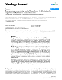 """Báo cáo hóa học: """" Immune response during acute Chandipura viral infection in experimentally infected susceptible mice"""""""