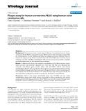 "Báo cáo hóa học: ""  Plaque assay for human coronavirus NL63 using human colon carcinoma cells"""