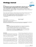 """Báo cáo hóa học: """" Complications post renal transplantation: literature focus on BK virus nephropathy and diagnostic tools actually available"""""""