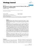 "Báo cáo hóa học: ""  Bioinformatic analysis suggests that the Orbivirus VP6 cistron encodes an overlapping gene"""
