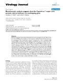 """Báo cáo hóa học: """"  Bioinformatic analysis suggests that the Cypovirus 1 major core protein cistron harbours an overlapping gene"""""""