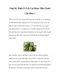 Ong Ký Sinh Có Lấy Lại Được Màu Xanh Cho Dừa ?