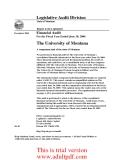 Legislative Audit Division State of Montana Report to the Legislature December 2006 _part1