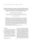"""Báo cáo nghiên cứu khoa học """" Đánh giá ảnh hưởng của phương án chỉnh trị đến khả năng bồi xói của đoạn sông Hồng từ Cầu Long Biên đến Khuyến Lương bằng mô hình mô phỏng biến đổi lòng dẫn hai chiều """""""