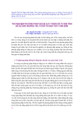 """Báo cáo nghiên cứu khoa học """" Thử nghiệm phương pháp ngoại suy thống kê tuyến tính để dự báo những yếu tố khí tượng thủy văn biển """""""