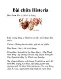 Bài chữa Histeria