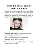 Chữa đau đầu do nguyên nhân mạch máu