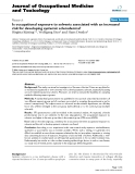 """Báo cáo hóa học: """"Is occupational exposure to solvents associated with an increased risk for developing systemic scleroderma?"""""""