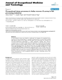 "Báo cáo hóa học: "" Occupational injury proneness in Indian women: A survey in fish processing industries"""