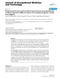 """Báo cáo hóa học: """" Respiratory function and bronchial responsiveness among industrial workers exposed to different classes of occupational agents: a study from Algeria"""""""