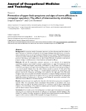 """Báo cáo hóa học: """" Prevention of upper limb symptoms and signs of nerve afflictions in computer operators: The effect of intervention by stretching"""""""
