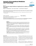 """báo cáo hóa học: """" A prospective study of decline in lung function in relation to welding emissions"""""""