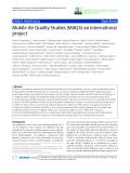 """báo cáo hóa học: """"   Mobile Air Quality Studies (MAQS)-an international project"""""""