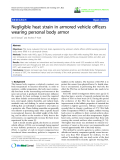 """báo cáo hóa học: """"  Negligible heat strain in armored vehicle officers wearing personal body armor"""""""
