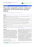 "báo cáo hóa học: ""  Pilose antler polypeptides promote chondrocyte proliferation via the tyrosine kinase signaling pathway"""