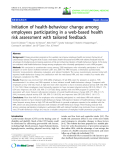 """báo cáo hóa học: """" Initiation of health-behaviour change among employees participating in a web-based health risk assessment with tailored feedback"""""""
