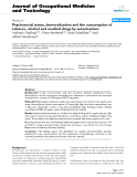 """báo cáo hóa học:""""  Psychosocial stress, demoralization and the consumption of tobacco, alcohol and medical drugs by veterinarians"""""""