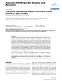 """báo cáo hóa học:""""   Case report: intra-tendinous ganglion of the anterior cruciate ligament in a young footballer"""""""