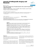 """báo cáo hóa học:""""  The intra-articular use of ropivacaine for the control of post knee arthroscopy pain"""""""