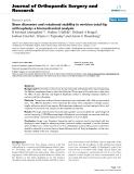 "báo cáo hóa học:""   Stem diameter and rotational stability in revision total hip arthroplasty: a biomechanical analysis"""