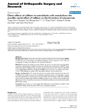 """báo cáo hóa học:""""   Direct effects of caffeine on osteoblastic cells metabolism: the possible causal effect of caffeine on the formation of osteoporosis"""""""