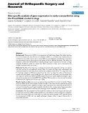 """báo cáo hóa học:""""  Site-specific analysis of gene expression in early osteoarthritis using the Pond-Nuki model in dogs"""""""