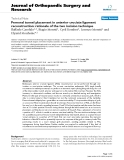 """báo cáo hóa học:""""  Femoral tunnel placement in anterior cruciate ligament reconstruction: rationale of the two incision technique"""""""