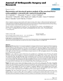 """báo cáo hóa học:""""   Asymmetry and structural system analysis of the proximal femur meta-epiphysis: osteoarticular anatomical pathology"""""""