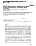 "báo cáo hóa học:""  Effects of low intensity pulsed ultrasound with and without increased cortical porosity on structural bone allograft incorporation"""